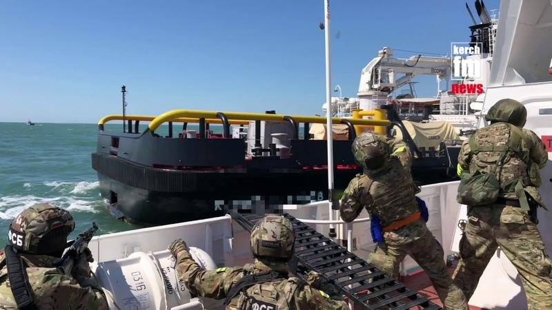 Учения ФСБ в Керченском проливе
