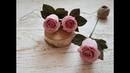 Голландская роза из гофрированной бумаги DIY Mellas Dutch rose paper