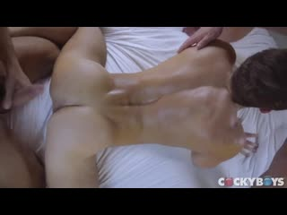 DOUBLE PENETRATION: ALEX MECUM, CARTER DANE & MANUEL SKYE gay porn