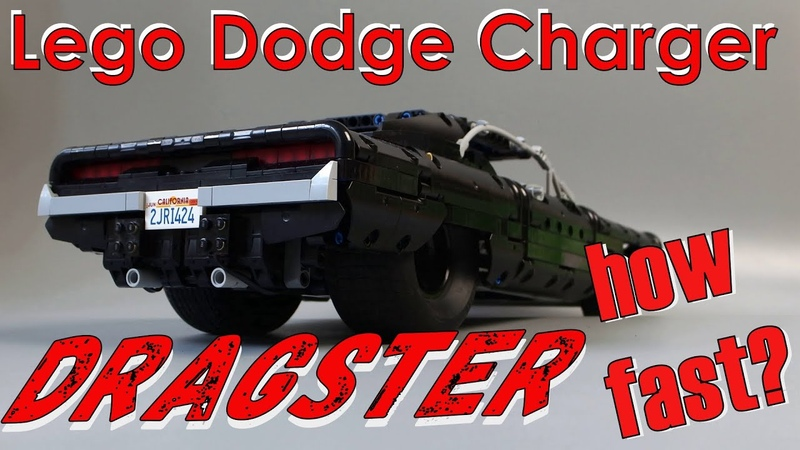 LEGO Technic Dodge Charger Dragster MOC (4 buggy motor!)