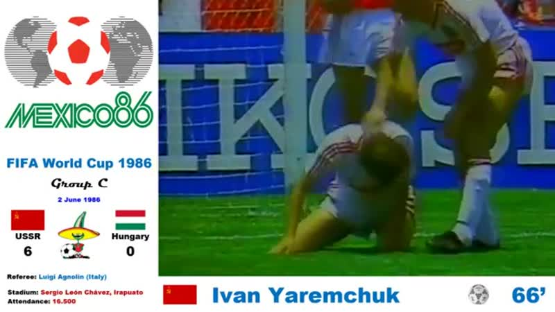 World Cup Mexico 1986: Soviet Union - Hungary 6-0 (Group C) - HD