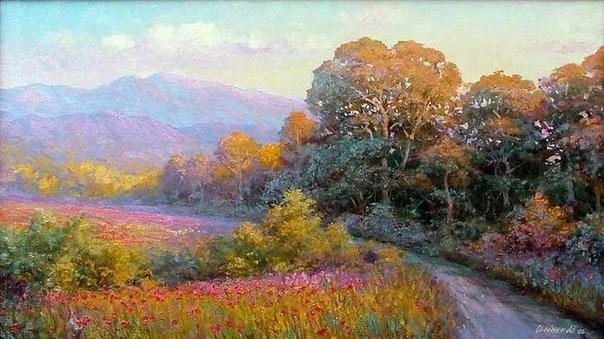 Художник Аркадий Олейник родился в Белоруссии в 1965 году С 1986 года проживает в Краснодаре. Роскошные виды Краснодарского края воодушевили его на искусство. Чего стоят реки, горы, море, леса.
