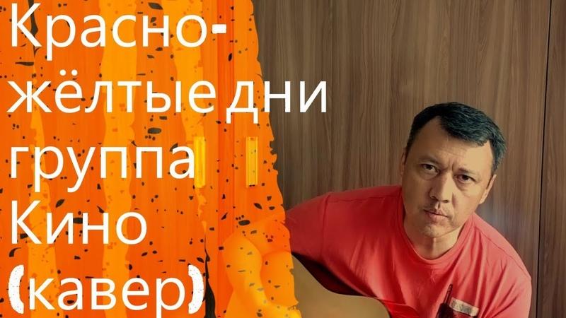 Группа Кино Красно жёлтые дни кавер Viktor Tsoi cover