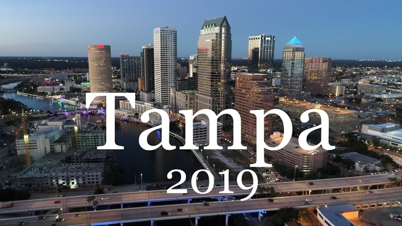 Tampa and Ybor City Aerial Ground Tour in 4k