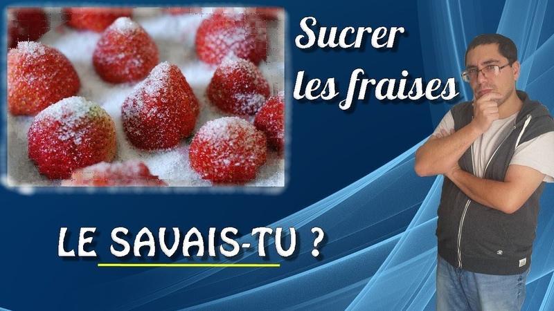 Le savais tu Expressions populaires  Sucrer les fraises 🍓